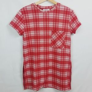 Zara Trafaluc Red & White Plaid Top
